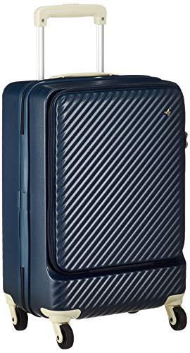 [ハント] スーツケース マイン ストッパー付き ジッパータイプ 48cm 33L 機内持込みサイズ フロントオープンタイプ 05744 機内持ち込み可 34L 48 cm 3.3kg ビオラネイビー