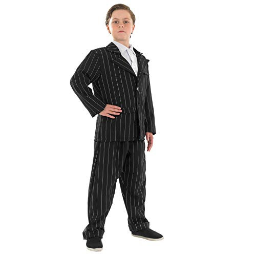 Fun Shack Negro Traje De Gánster Disfraz para Niños - L