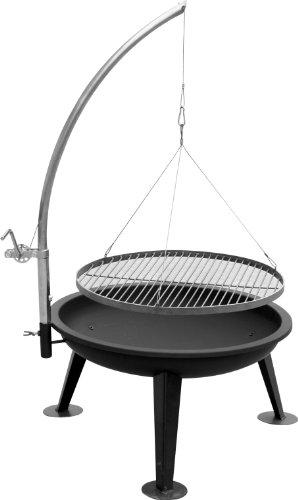 XXL zwenkgrill LINUS 80, grillrooster van roestvrij staal, vuurschaal van metaal topkwaliteit met galgen NIEUW & OVP