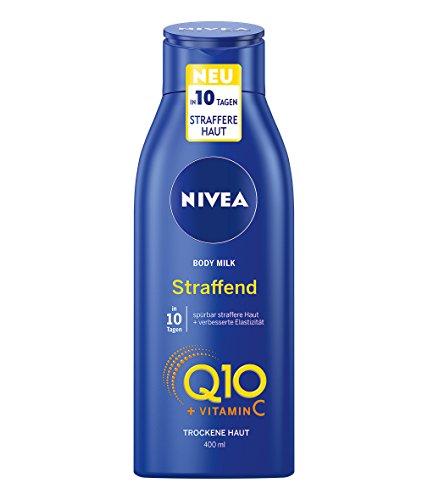 NIVEA Hautstraffende Körper-Milch mit Q10 für trockene Haut, 400 ml Flasche, Body Milk