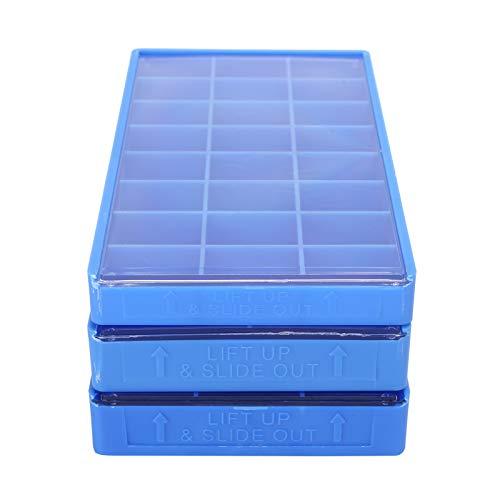 Caja de almacenamiento de piezas, organizador de piezas de reloj con compartimentos, contenedor de pendientes de cuentas de plástico, con materiales de alta calidad, tres especificaciones diferentes,