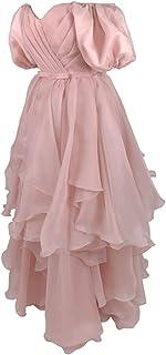 فستان سهرة من التول برباط خلفي للنساء