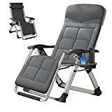 [Upgraded] FICISOG Adjustabe Zero Gravity Chair with Ergonomic Design, Portable Outdoor Folding Chaise Lounge Chair, Super Convenient and Durable, Supports up to 440lbs/200kg