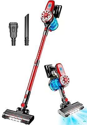 Cordless Vacuum Cleaner, 17Kpa Stick Vacuum Cleaner 4 in 1 Lightweight Handheld Vacuum Cleaner Wireless Vacuum Cleaners for Pet Hair Cleaning Home Hardwood Floor Carpet Hard Floor Tile Floors Car