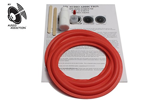 "RED FOAM SURROUND REPAIR KIT FOR CERWIN VEGA 8 "" All Red"
