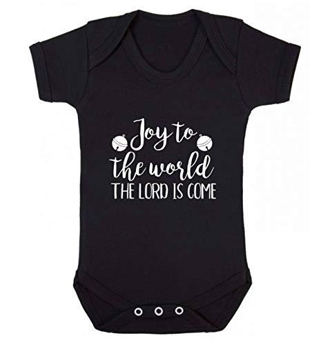 Flox Gilet créatif pour bébé Joy to The World Lord - Noir - XS