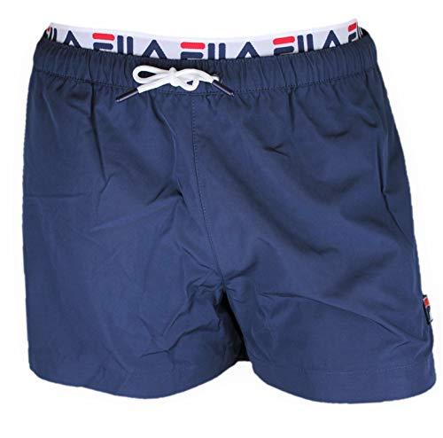 FILA Badehose Herren RYOTA Swim Shorts 687742 170 Black Iris Dunkelblau, Größe:S