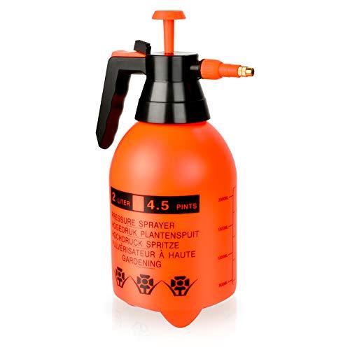 Pulverizador de Presión de 2 L, Presión Ajustable Pulverizador Pulverizador Manual para Multiusos Uso Botella De Spray para Ser Utilizado como Jardinería Limpieza de Ventanas Fertilización y Mucho Más