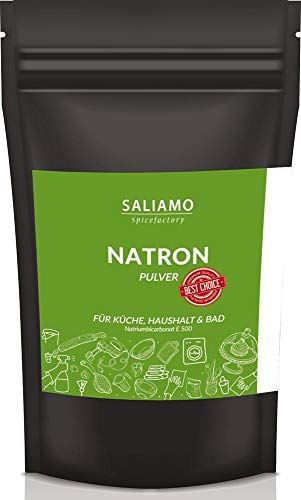 1kg Natron Pulver in Lebensmittelqualität E500ii NaHCO3 Natriumhydrogencarbonat Pulver wiederverschließbarer Beutel | Saliamo