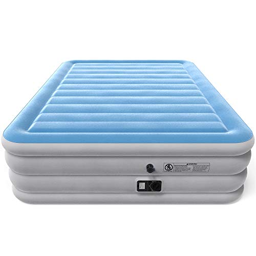 Vremi Inflatable Queen Air Mattress with Built-in Pump -...