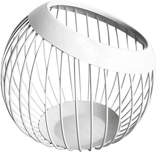 ytrew Frutero de alambre de metal resistente, cesta de frutas, soporte para almacenamiento de aperitivos, cuenco decorativo para cocina moderna, encimera, sala de estar