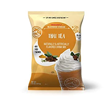 Big Train Dragonfly Blended Crème Frappe Mix Thai Tea 3.5 Pound  Packaging May Vary