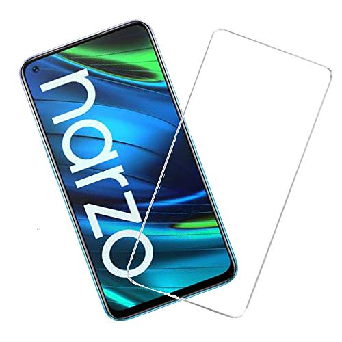 KARTRAY Pack of 1 Shielding Tempered Glass Crafted for Oppo Reno 2/Realme Narzo 20 Pro/6/7/6i/7i (Transparent)(Except edges & back cover friendly)