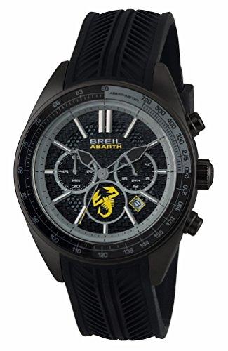 Orologio BREIL uomo ABARTH quadrante nero e cinturino in silicone...