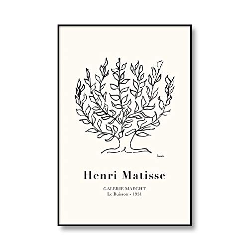 Póster de exposición de Henri Matisse, impresiones de hojas abstractas multicolores, arte de pared, pinturas de lienzo sin marco de familia, A4 40x60cm