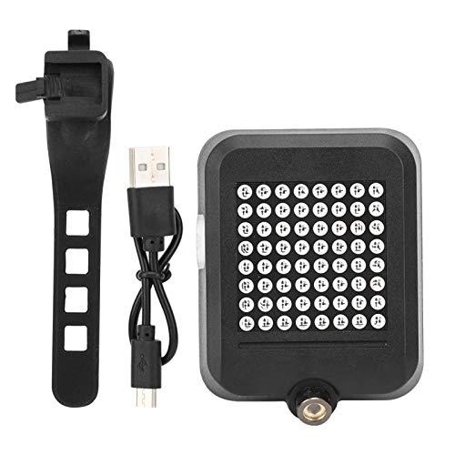 Shipenophy Lámpara impermeable para bicicleta LED para fácil de usar y quitar campo, salidas (negro)