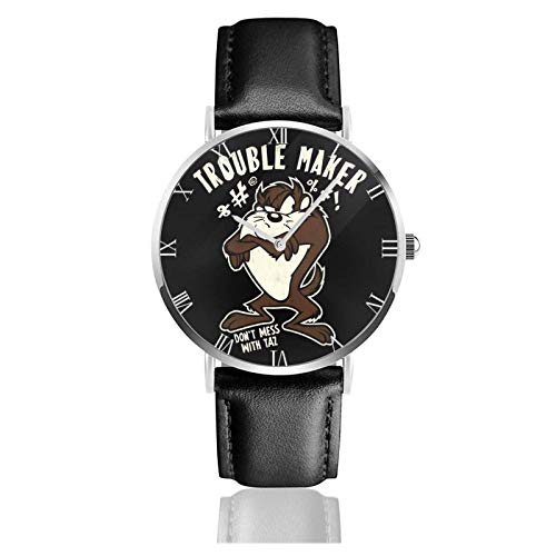 Relojes Anolog Negocio Cuarzo Cuero de PU Amable Relojes de Pulsera Wrist Watches Taz del Diablo de Tasmania de los Looney Tunes Vintage