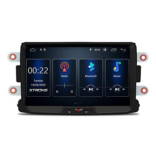 JIBO 8' Android 10.0 Auto Radio GPS Navegación Cabeza Unidad por Dacia Logan 2012-2017 Estéreo Multimedia Jugador Nav Sat Bluetooth Teléfono Control SWC WiFi Video Receptor