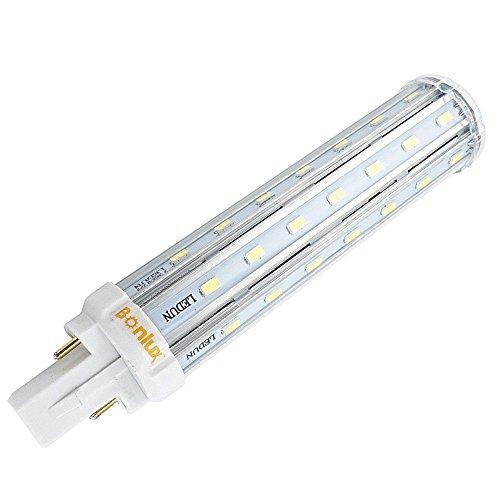 Bonlux 2-Pin 13W G24 Led Bombilla de Luz Cálida 2800K con 360 Grados Para Casa, Escuela, Oficina, Pasillo, Restaurante, Reemplazo de 30W Cfl Bombilla
