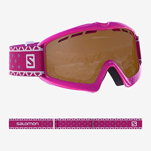 Salomon, Kiwi, Kinder-Skibrille (3-6 Jahre), Pink/Universal Silver Mirror, L39911000