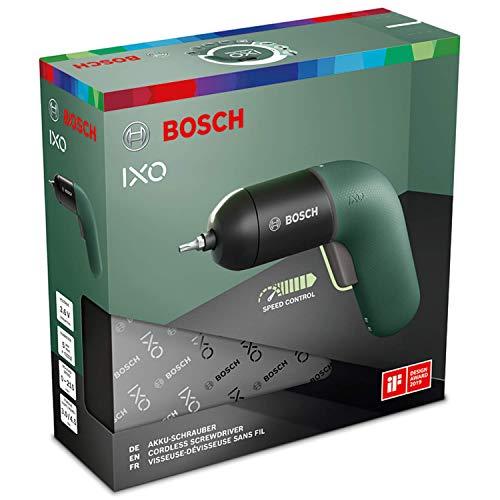 BOSCH IXO VI Screwdriver Professional   Cordless Electric Color 3.6V USB Rechargeble Lightweight Small Convenient Home Deco Li-ion Battery (Green)