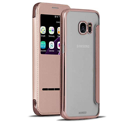 Transparant glanzend hoesje voor Samsung Galaxy S7 Edge | Roze envelop | Glanzen