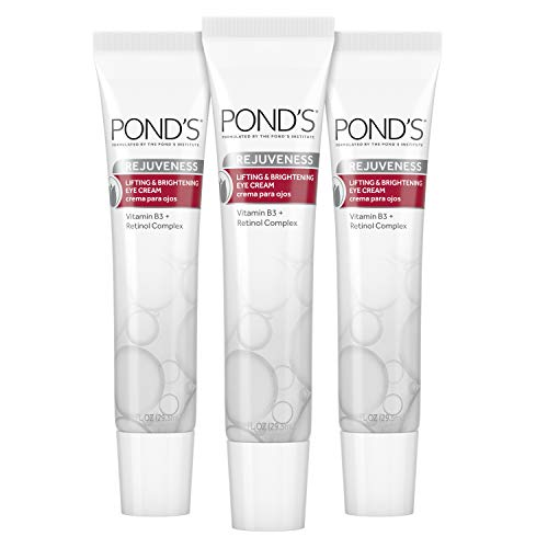 Pond's Brightening Eye Cream Visibly Reduces the Look of Wrinkles Rejuveness Eye Wrinkle Cream With Vitamin B3 and Retinol Complex 1 oz 3 Count