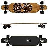 FunTomia Freerider Longboard monopatín - 107cm x 26cm - rodamientos Mach1 - Hecho con Madera de Arce de bambú