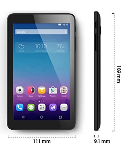 Alcatel One Touch PIXI 3 (7) WiFi 4GB Negro - Tablet (Minitableta, IEEE 802.11n, Android, Pizarra, Android, Negro)