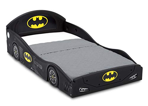 Batman Batmobile Car Sleep and Play Toddler Bed with Attached Guardrails