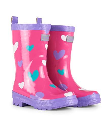 Hatley Printed Wellington Rain Boots, Botas de Agua para Niñas, Rosa (Sweethearts 650), 34 EU