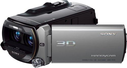 Sony HDR-TD10E Full HD Camcorder (12-fach optischer Zoom (2D) / 10-fach-Zoom (3D), 64 GB interner Speicher, 30 mm Weitwinkel, 8,9 cm (3.5 Zoll) Display) silber