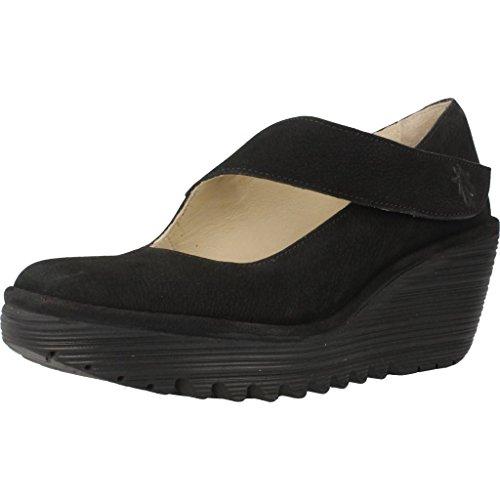 Fly London Yasi682fly, Zapatos con plataforma Mujer, Negro (Black 2006), 36 EU