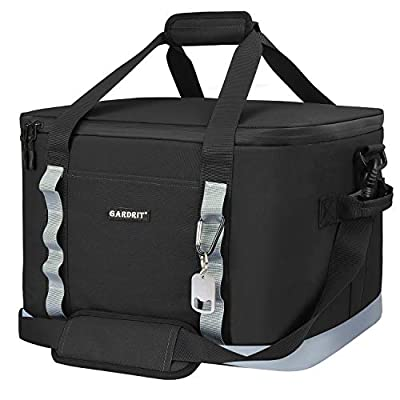 GARDRIT 60 Can Large Cooler Bag - Collapsible Insulated Lunch Box, Leakproof Cooler Bag Suitable for Camping, Picnic& Beach (39L)