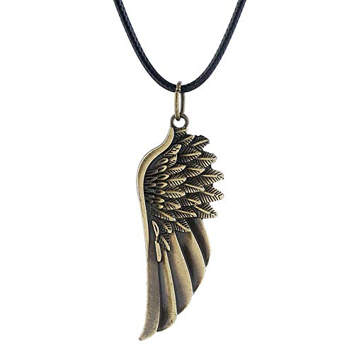 FJKWLC Car Rear View Mirror Pendant Vintage Alloy Angel Wing Necklace Wing Pendant