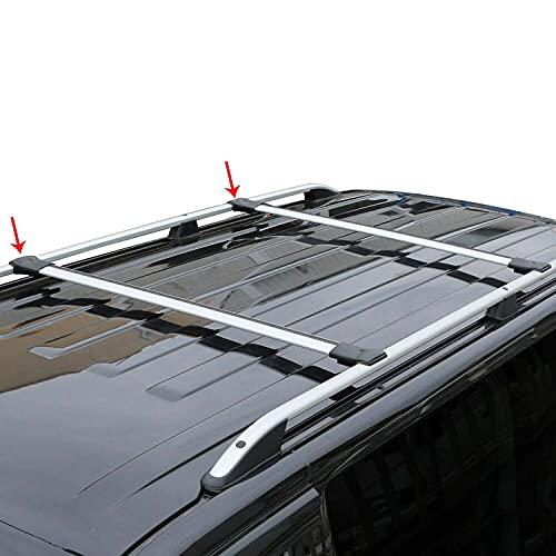 Relingträger Dachträger Dachgepäckträger Kompatibel mit Citroen Berlingo 2018-2021   Fahrradträger Dachboxen Dachgepäckablage Dachteile   Eloxiertem Aluminium Grau mit TÜV ABE 2 TLG