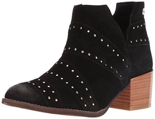 Roxy Women's Lexie Suede Fashion Boot Ankle, Black, 7.5 M US