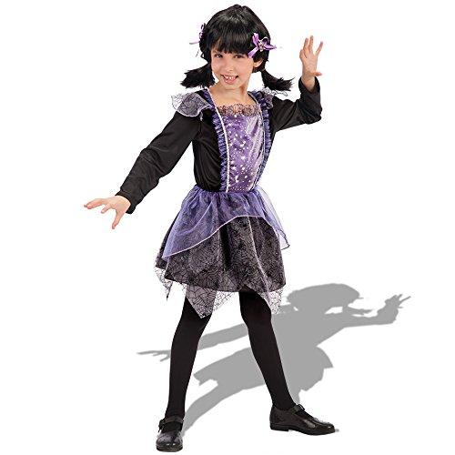 Carnival Toys 65022 Palos – Sorcière, déguisement, 3–4 Ans, Noir/Violet