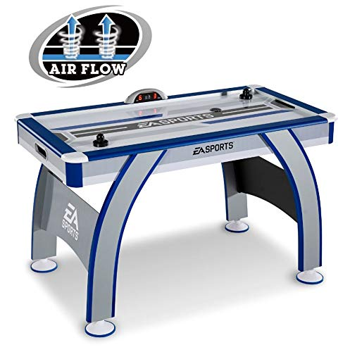 Air Hockey Table for Kids Adults 54 Inch LED Electronic Scorer Indoor Arcade Games Play Fun Den