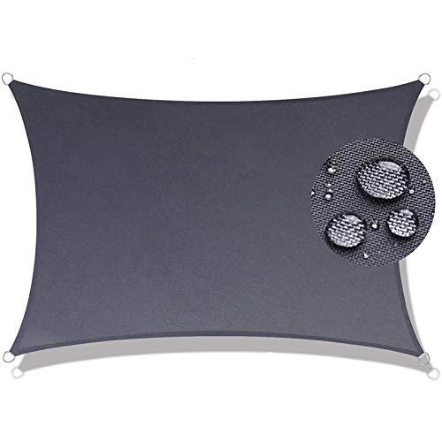 Toldo Parasol 7x7.5m Telas Lona Cubierta Protección Anti-UV 95%, Toldo Vela IKEA Impermeable, para Patio, Exteriores, Jardín, Gris