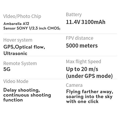 Mnouom Cámaras 4K HD/5G Wifi Drone Quadcopter para adultos y niños, Smart Return To Home, Rc Quadcopter con Altitude Hold Drones plegables con cámaras para principiantes(Azul)