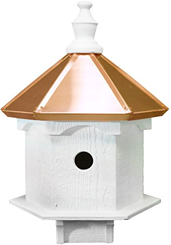 Amish Double Bluebird Birdhouse with Copper Roof, Handcrafted in The USA