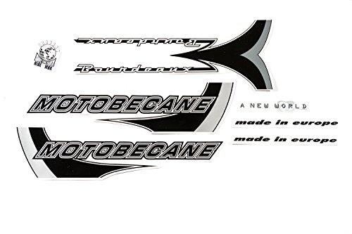 Fahrrad Dekor Satz Aufkleber Rahmen Frame Decal Sticker Motobecane Grau Weiß