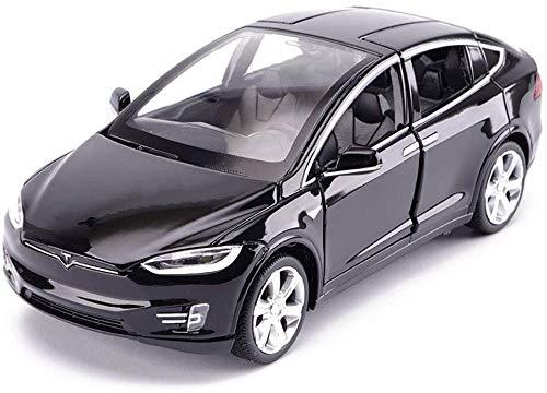 TZSMCMX Model Car Tesla X Off-Road SUV 1,32 Simulation Die-Casting Alloy Toy Car Model Decoration 15x5.5x4.5CM Model Car (Color : Black)