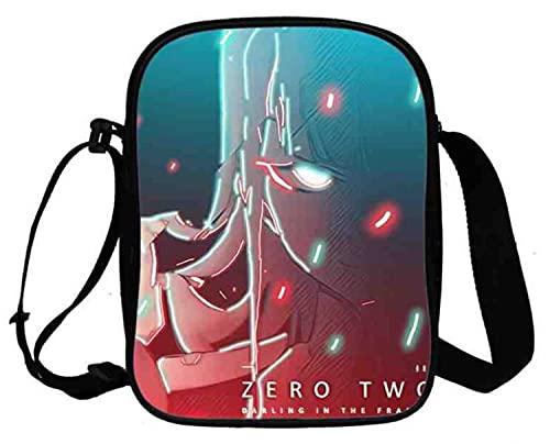 WANHONGYUE Anime Darling In The Franxx Bolso Bandolera Bolso Mensajero de Hombre y Mujer Bolsos Cruzados Pequeño Bolsos Mano Crossbody Bag 1057/26
