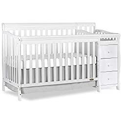 This image shows Dream On Me 5 in 1 Brody that is the best crib with changing table in my review