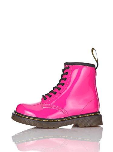 Dr. Martens Mädchen Brooklee Patent Bootschuhe, Pink (Hot Pink), 23 EU