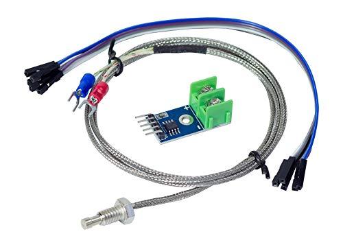 MissBirdler MAX6675-200°C - 1300 °C Thermocouple Sensor Module Temperature Detection Development Module for Arduino Prototyping DIY