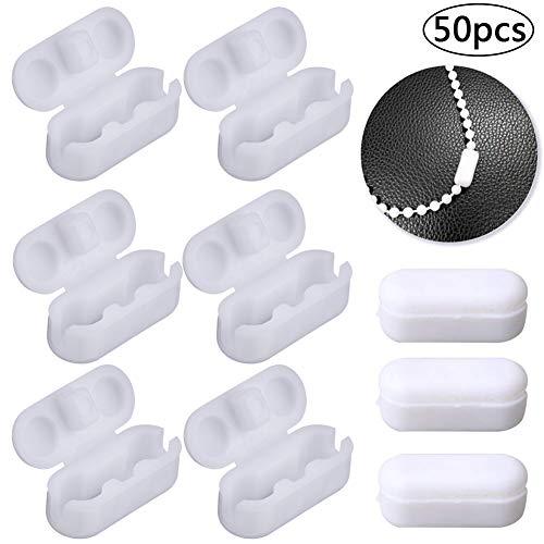 Kettenverbinder aus Kunststoff, BETOY 50 Stück Weiß Rollo Kettenverbinde für Rolloketten Perlenketten Kugelketten oder Jalousienketten