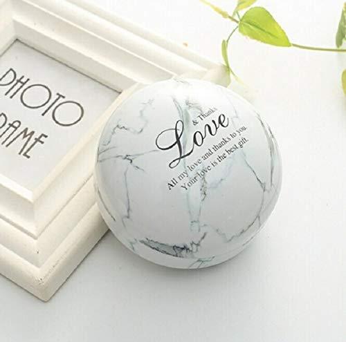 Ianxianrixiangjingujianxia Coloración: Blanco (mármol), romántico día de San Valentín caja del caramelo de caramelo redondo plano joyas caja de regalo caja de mano del pájaro del partido Gay Menage Ja